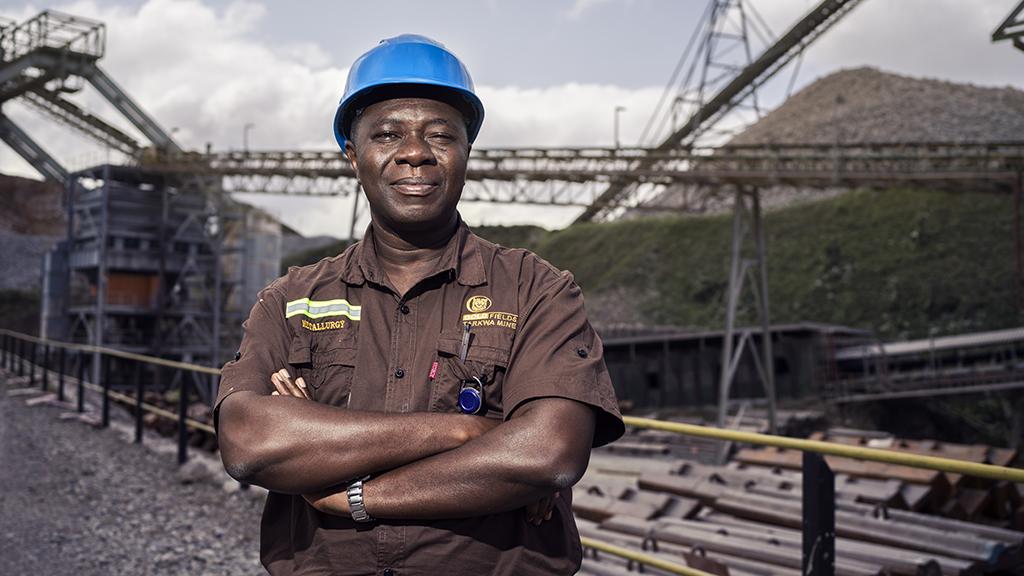 Metallurgical manager Henry Mensah Atakora.